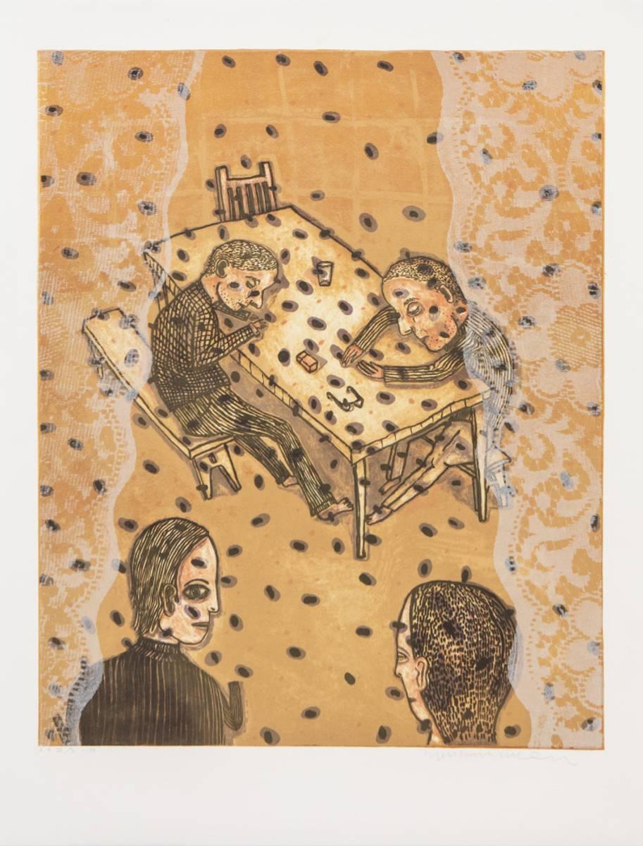 Litografi (uten tittel)                   , Killi Olsen